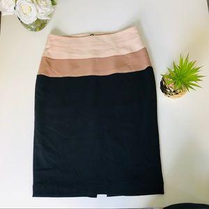 Ann Taylor Pencil Skirt Size 6 Brown/Tan/Cream